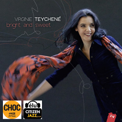 enregistrement, mixage et mastering de l'album Bright and sweet de Virginie Teychené.
